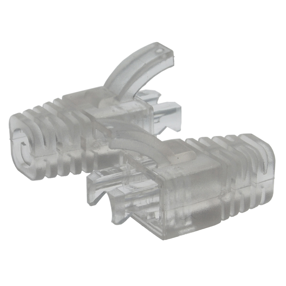 Strain Relief Clear Boot for Cat.6 UTP RJ45 100pack